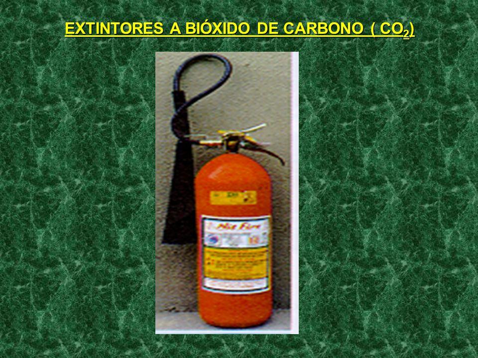 AGENTES EXTINTORES: - BROMOCLORODIFLUORMETANO( HALLON 1211); e - BROMOTRIFLUORMETANO ( HALON 1301 ).