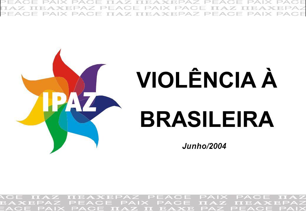 12 Rio de Janeiro Focado na violência visualizada/ percebida, como: assistir cenas de violência na TV, ter mais medo de polícia que de ladrão, ter gente sendo torturada nas cadeias, ter gente agressiva no trânsito, ter que estar sempre atento para não ser assaltado.