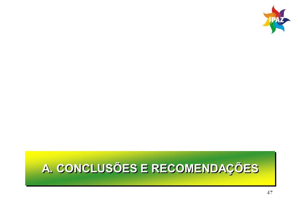 47 A. CONCLUSÕES E RECOMENDAÇÕES