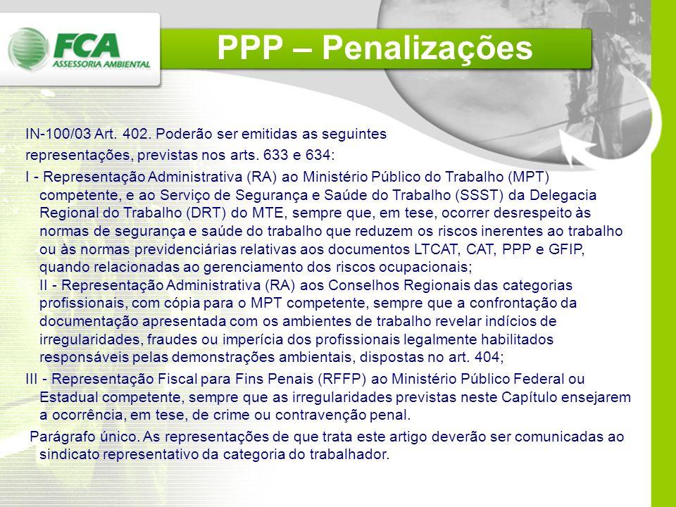 Art. 148. § 12. A prestação de informações falsas no PPP constitui crime de falsidade ideológica, nos termos do artigo 297 do Código Penal. § 13. As i