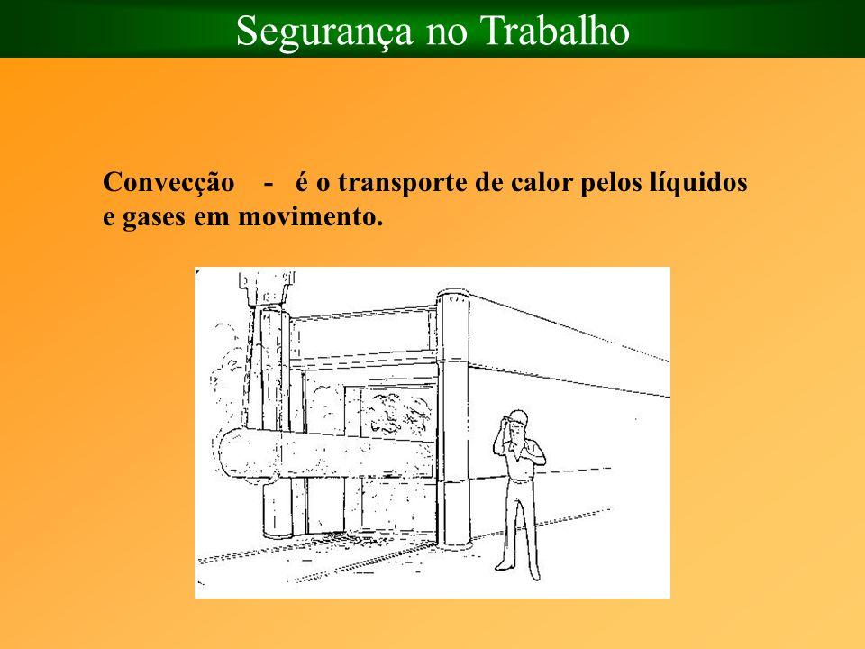 Segurança no Trabalho Convecção - é o transporte de calor pelos líquidos e gases em movimento.