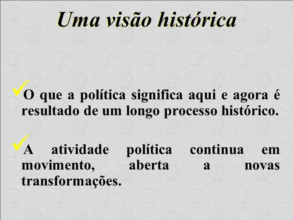 Política de Gregos e Romanos O termo política foi cunhado a partir da atividade social desenvolvida pelos homens da pólis, a Cidade-Estado grega.