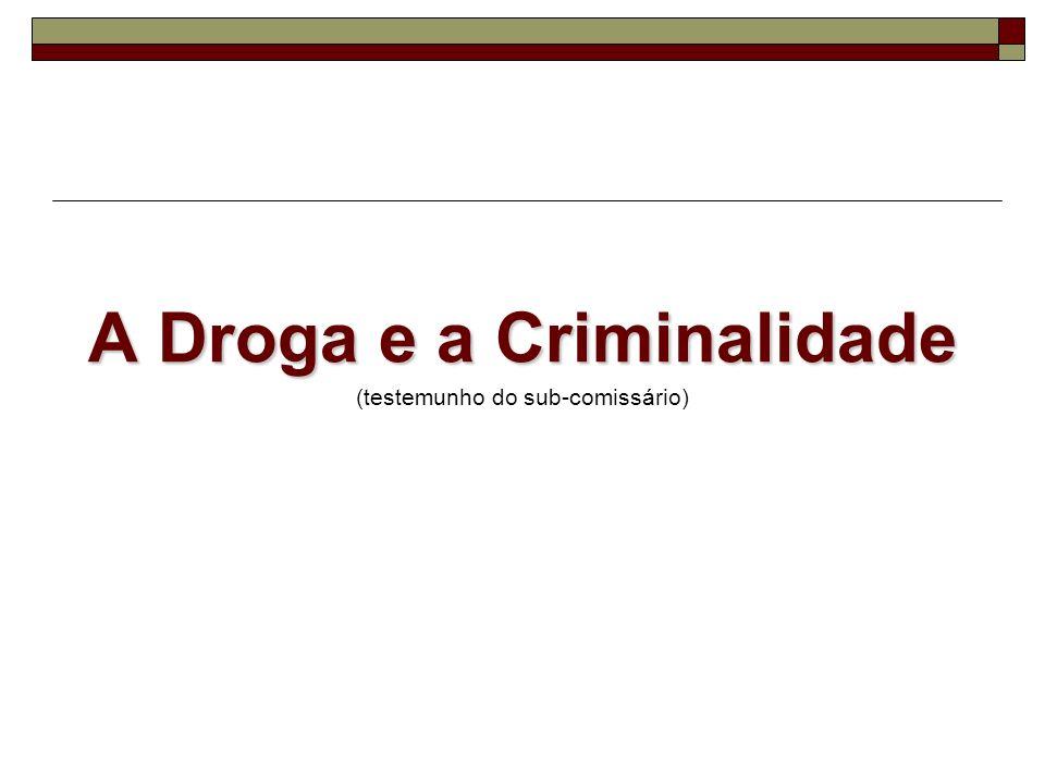 A Droga e a Criminalidade (testemunho do sub-comissário)