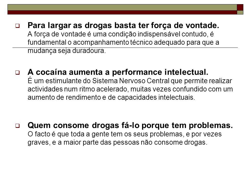 Para largar as drogas basta ter força de vontade. A força de vontade é uma condição indispensável contudo, é fundamental o acompanhamento técnico adeq