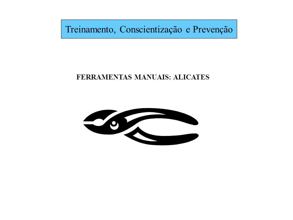 Treinamento, Conscientização e Prevenção FERRAMENTAS MANUAIS: ALICATES