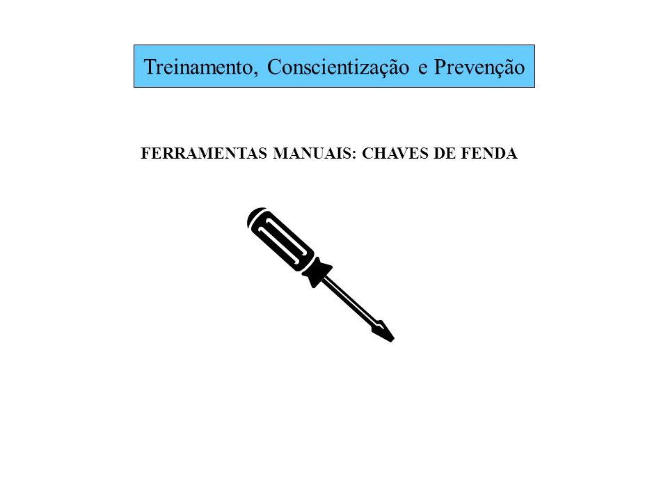 Treinamento, Conscientização e Prevenção FERRAMENTAS MANUAIS: CHAVES DE FENDA