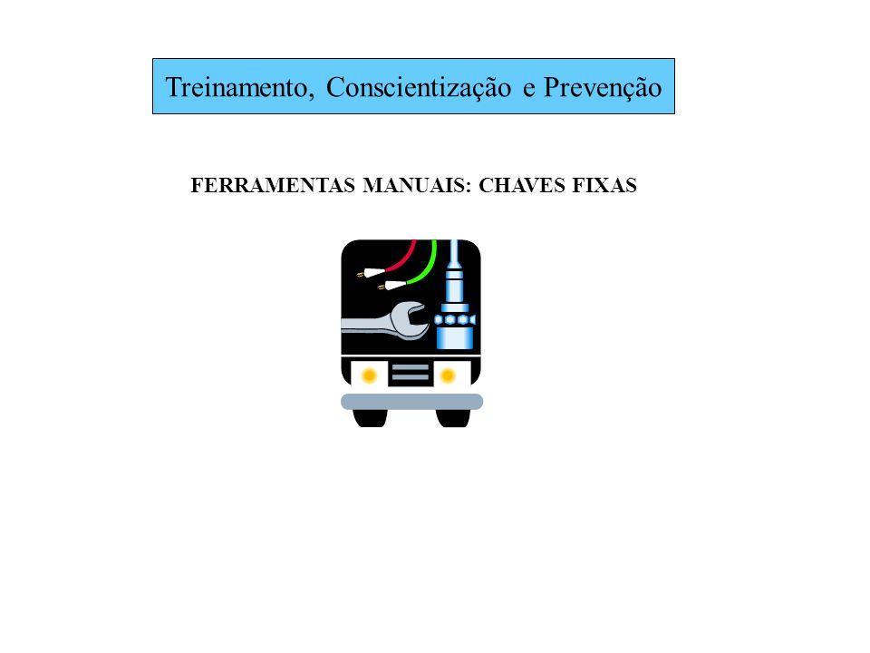 Treinamento, Conscientização e Prevenção FERRAMENTAS MANUAIS: CHAVES FIXAS