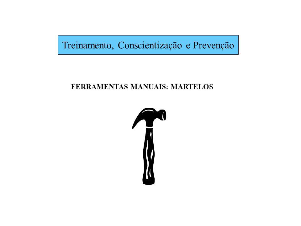 Treinamento, Conscientização e Prevenção FERRAMENTAS MANUAIS: MARTELOS