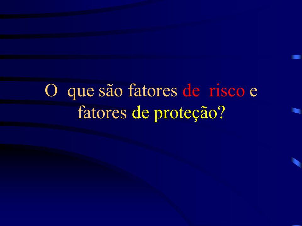 O que são fatores de risco e fatores de proteção?