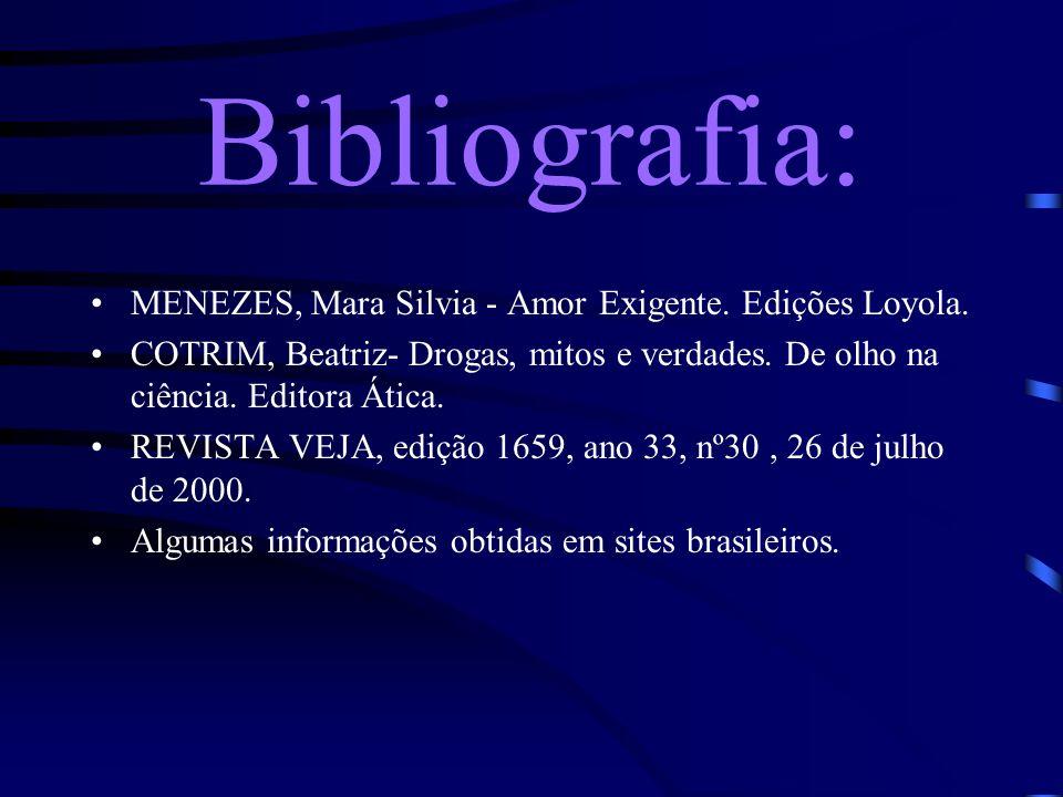 Bibliografia: MENEZES, Mara Silvia - Amor Exigente.