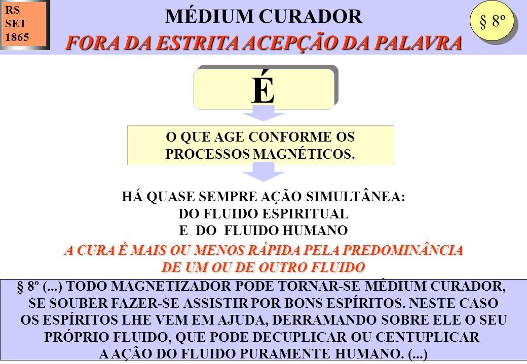 FORA DA ESTRITA ACEPÇÃO DA PALAVRA MÉDIUM CURADOR FORA DA ESTRITA ACEPÇÃO DA PALAVRA RS SET 1865 § 8º (...) TODO MAGNETIZADOR PODE TORNAR-SE MÉDIUM CU