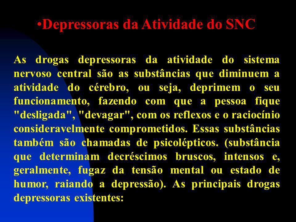 CLASSIFICAÇAO DAS DROGAS Depressoras da Atividade do SNC Estimulantes da Atividade do SNC Perturbadoras da Atividade do SNC Cientistas Franceses