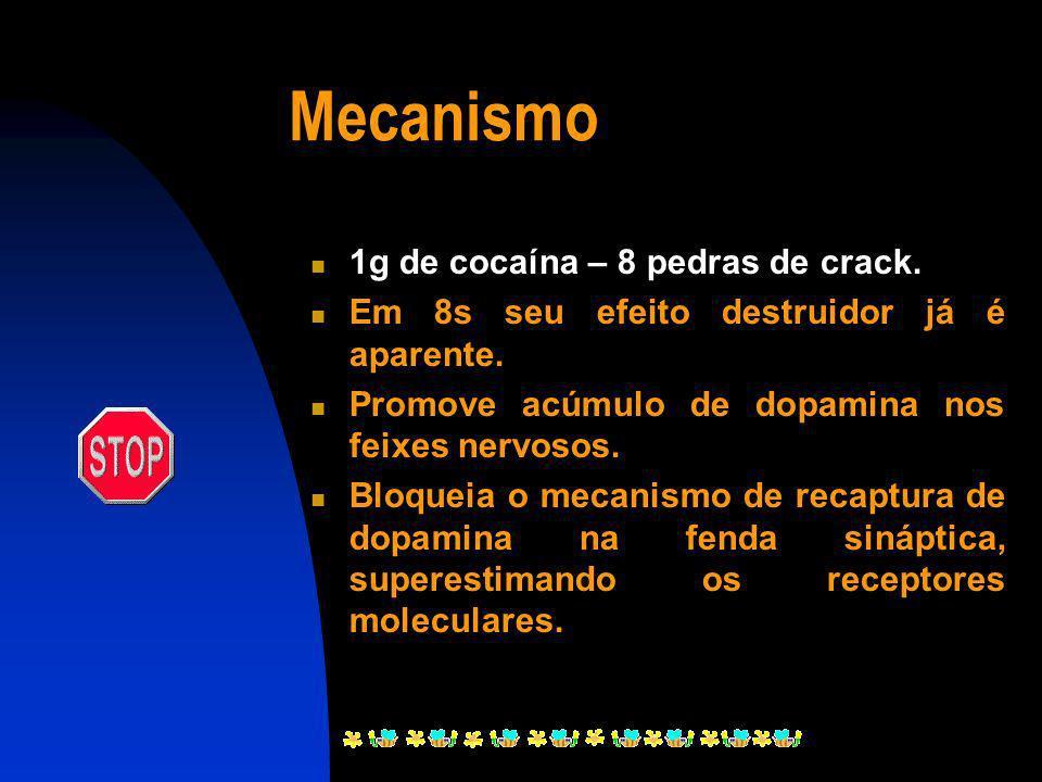 Crack É a cocaína transformada com o uso de soda cáustica ou bicarbonato de sódio para se tornar própria para o fumo, cocaína solidificada e fumada na