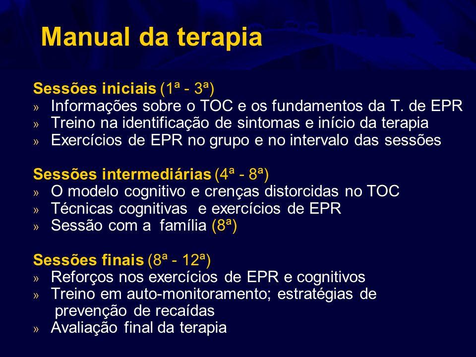 Manual da terapia Sessões iniciais (1ª - 3ª) » Informações sobre o TOC e os fundamentos da T. de EPR » Treino na identificação de sintomas e início da