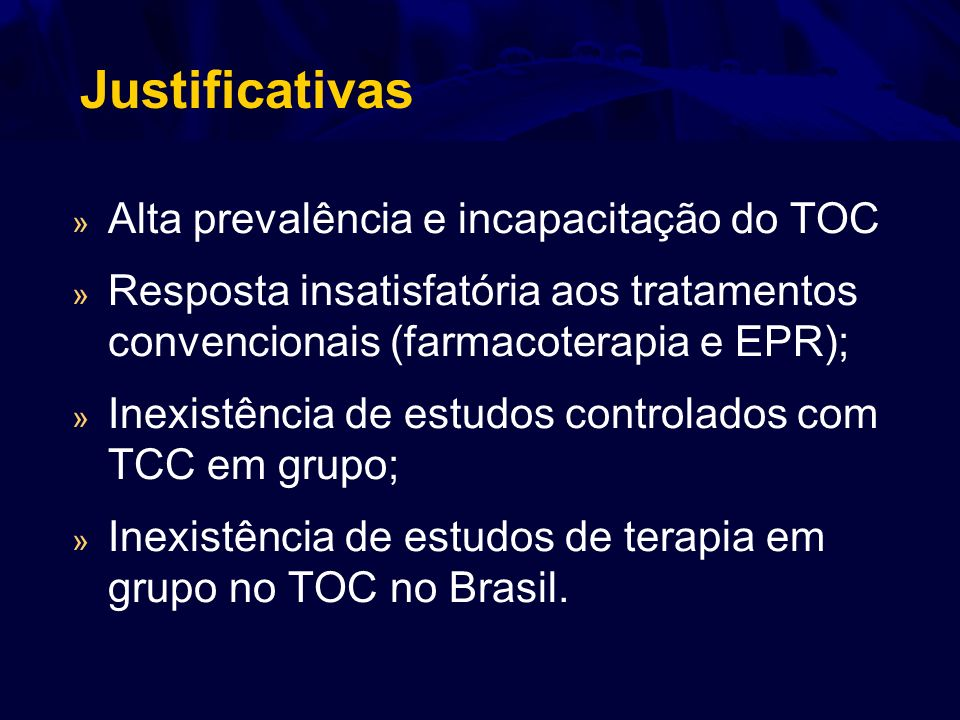 Estudo nº 1 Cognitive-behavioral group therapy in obsessive-compulsive disorder: a clinical trial.