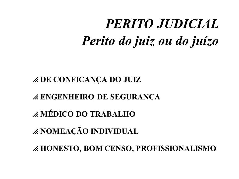 PERITO JUDICIAL Perito do juiz ou do juízo DE CONFICANÇA DO JUIZ ENGENHEIRO DE SEGURANÇA MÉDICO DO TRABALHO NOMEAÇÃO INDIVIDUAL HONESTO, BOM CENSO, PR