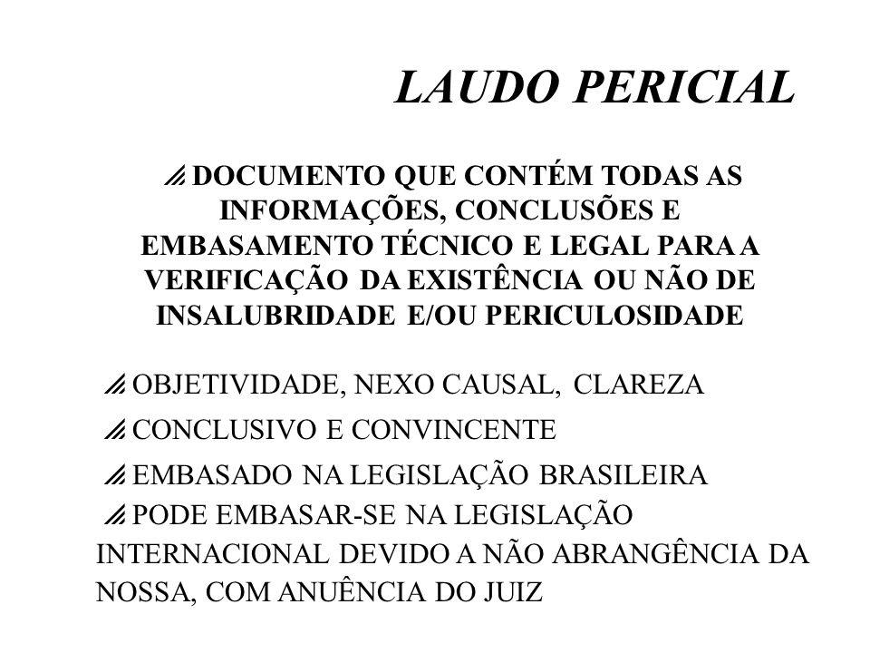 LAUDO PERICIAL OBJETIVIDADE, NEXO CAUSAL, CLAREZA CONCLUSIVO E CONVINCENTE EMBASADO NA LEGISLAÇÃO BRASILEIRA PODE EMBASAR-SE NA LEGISLAÇÃO INTERNACION