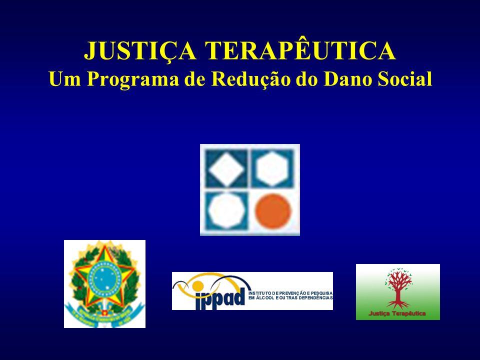 Programa de Justiça Terapêutica: um programa judicial de redução do dano social 1) Pena alternativa 2) Medida de tratamento 3) Medida sócio-educativa (ECA)