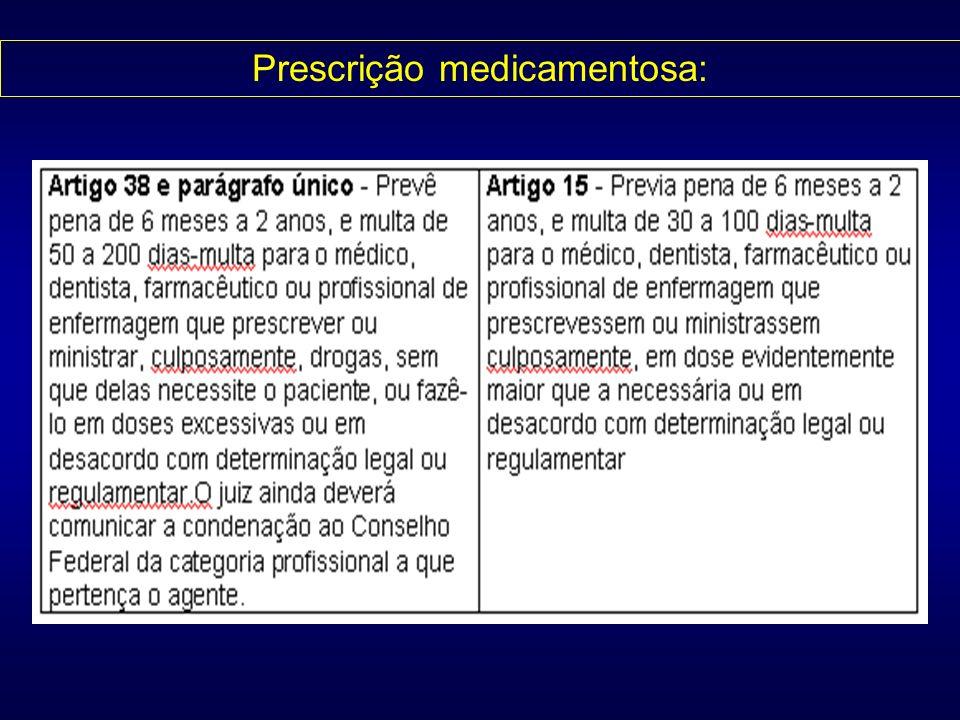 Prescrição medicamentosa: