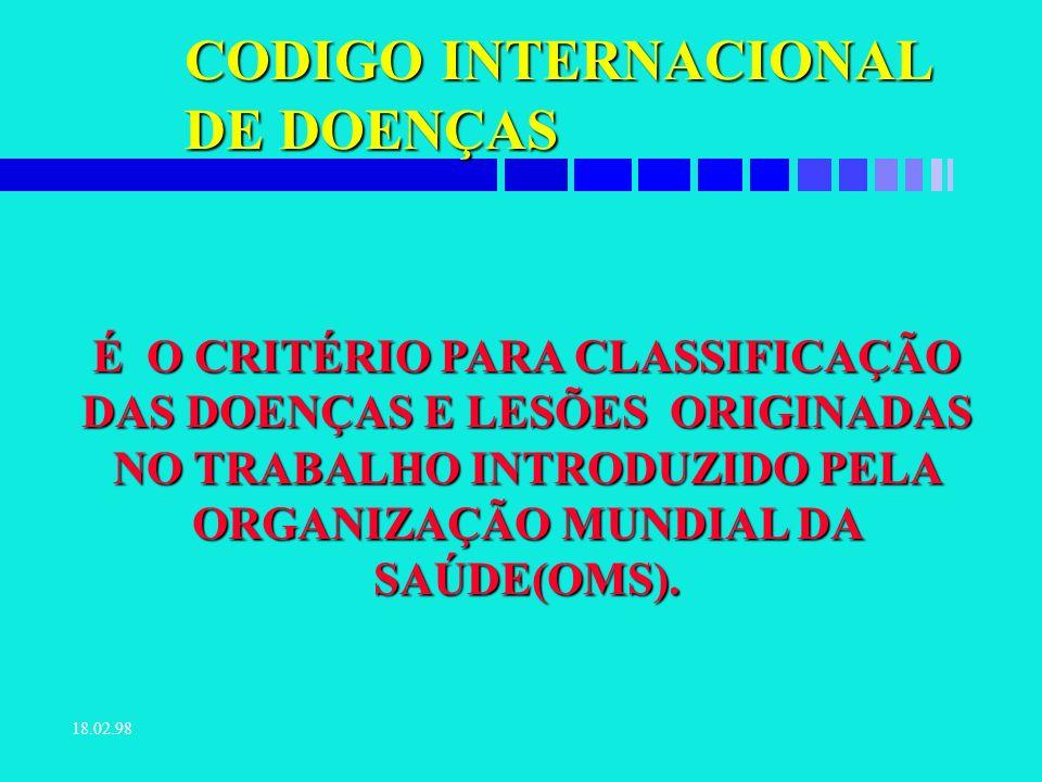 18.02.98 CUSTO DA LESÃO É O CUSTO ENVOLVIDO DIRETAMENTE NA LESÃO.
