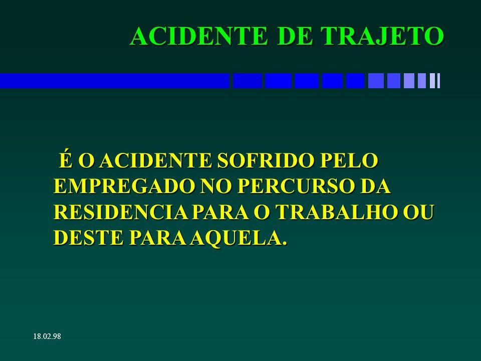 18.02.98 ACIDENTE EM HORÁRIO DE DESCANSO É EMPREGADO PARA CASOS DE PRÁTICA DE ESPORTES EM REGIME DE CONFINAMENTO.