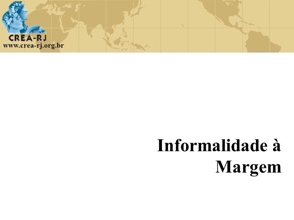 www.crea-rj.org.br Informalidade à Margem