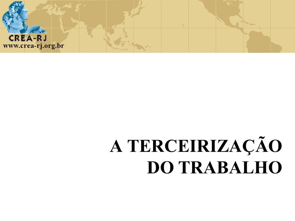 www.crea-rj.org.br A TERCEIRIZAÇÃO DO TRABALHO