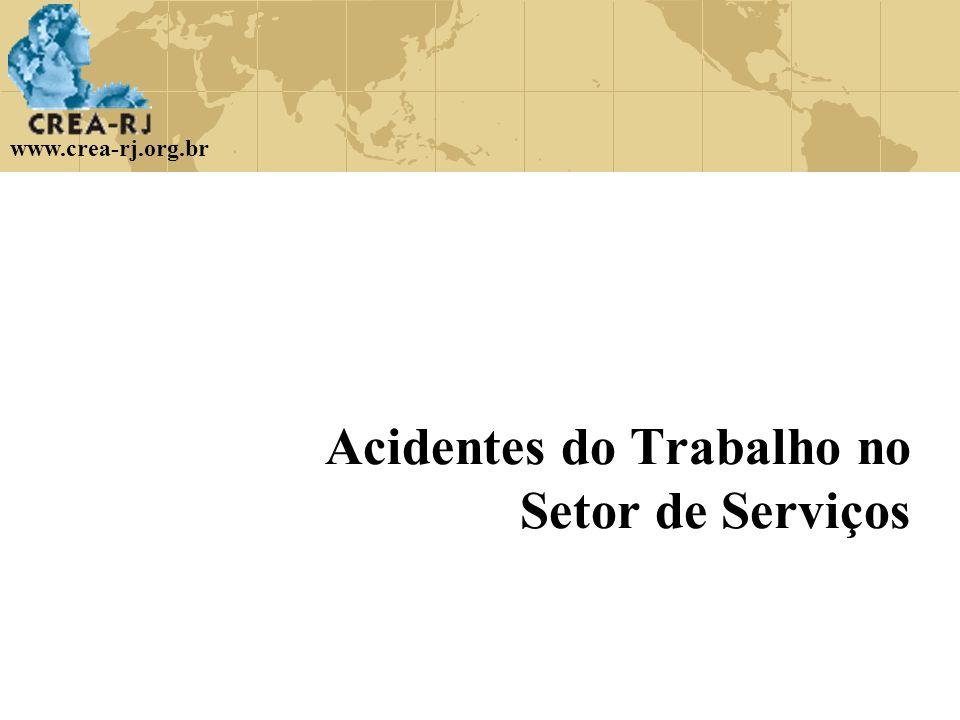 www.crea-rj.org.br Acidentes do Trabalho no Setor de Serviços