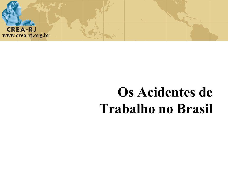 www.crea-rj.org.br Os Acidentes de Trabalho no Brasil