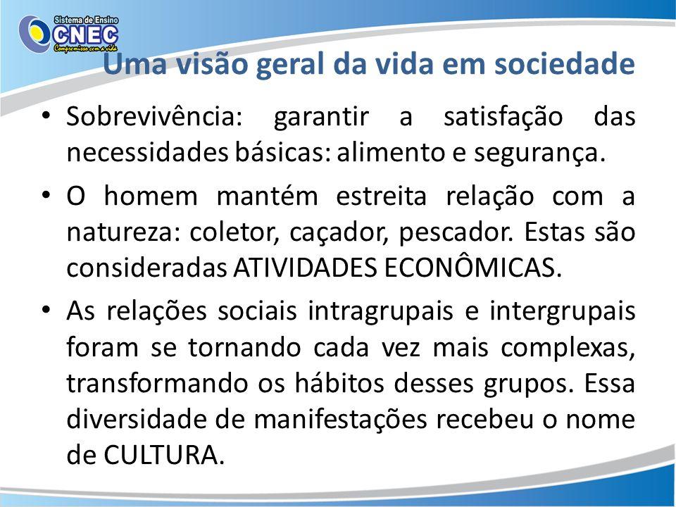 CULTURA: Conjunto de normas, regras, hábitos, costumes, crenças, etc., manifestado por um grupo e que serve para diferenciar um grupo social de outro.