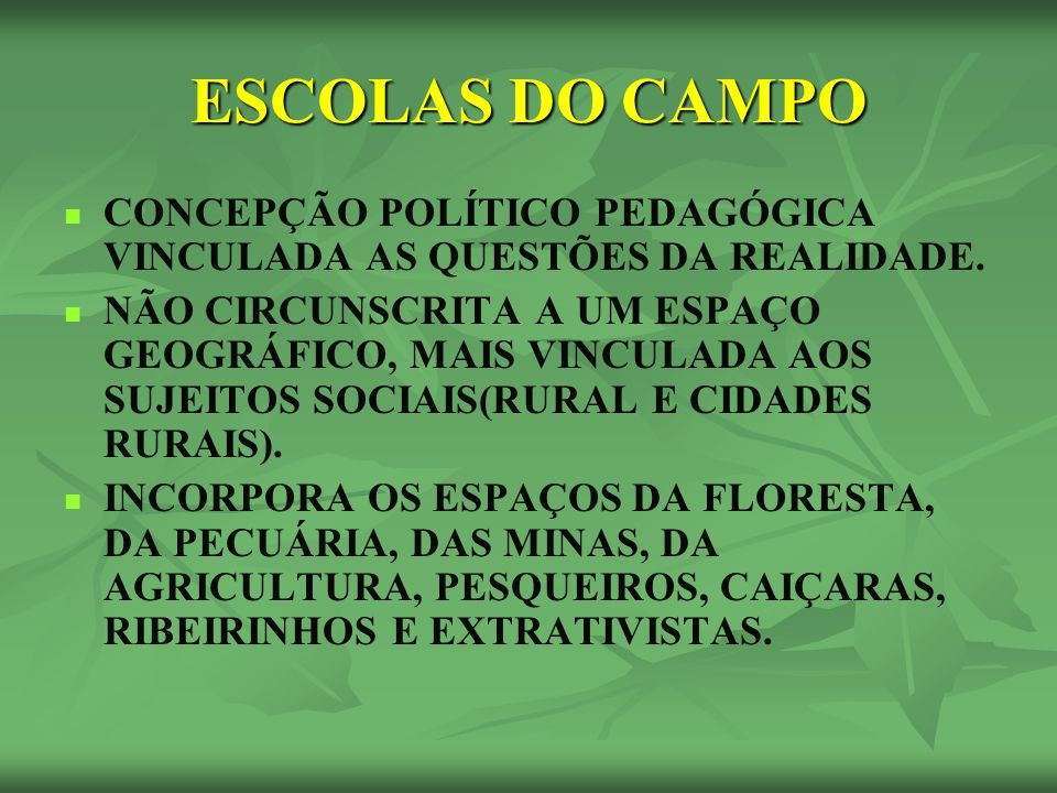 A IDENTIDADE DA ESCOLA DO CAMPO – ART.