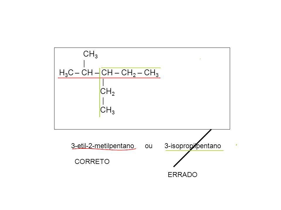 CH 3 | CH 3 CH – CH 3 | | H 2 C – C – C – CH 2 – CH 2 – CH 3 | | | H 3 C CH 3 CH 2 | CH 3 4-etil- 3,3- dimetil – 4 - isopropileptano