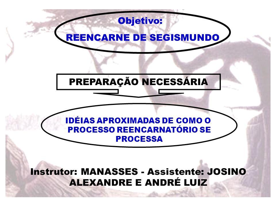 REENCARNE DE SEGISMUNDO PREPARAÇÃO NECESSÁRIA IDÉIAS APROXIMADAS DE COMO O PROCESSO REENCARNATÓRIO SE PROCESSA Instrutor: MANASSES - Assistente: JOSIN