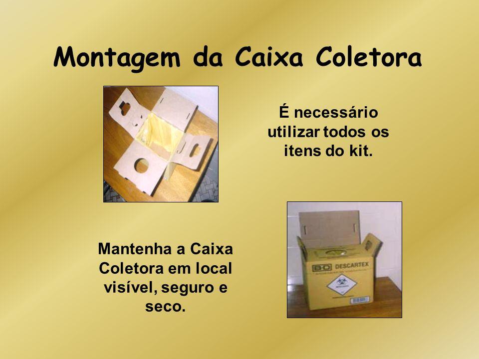Montagem da Caixa Coletora É necessário utilizar todos os itens do kit. Mantenha a Caixa Coletora em local visível, seguro e seco.