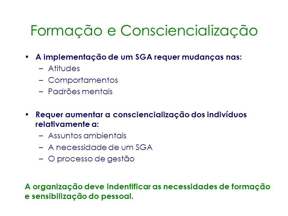 Procedimentos Ambientais Os procedimentos ambientais são instruções passo-a- passo, que, se devidamente efectuadas, permitem controlar tanto o SGA com
