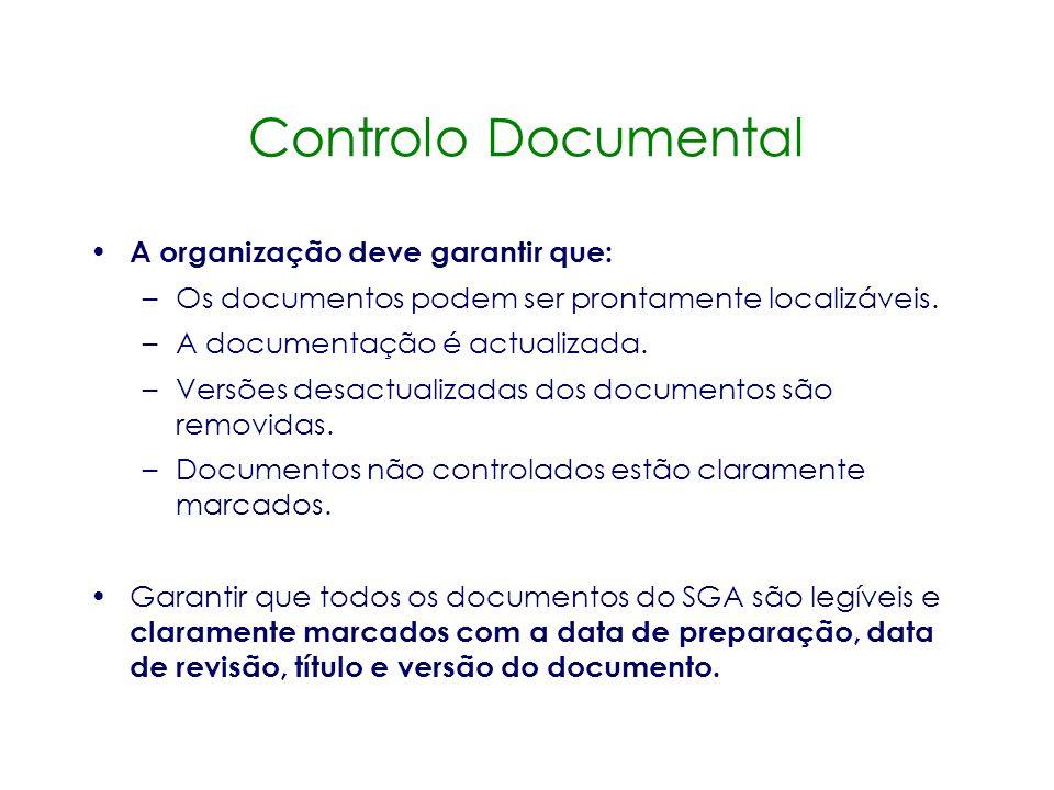 Manual de Gestão Ambiental Instrumento chave para controlar o sistema de gestão. Ponto de referência central Central para manter e auditar o SGA. O Ma