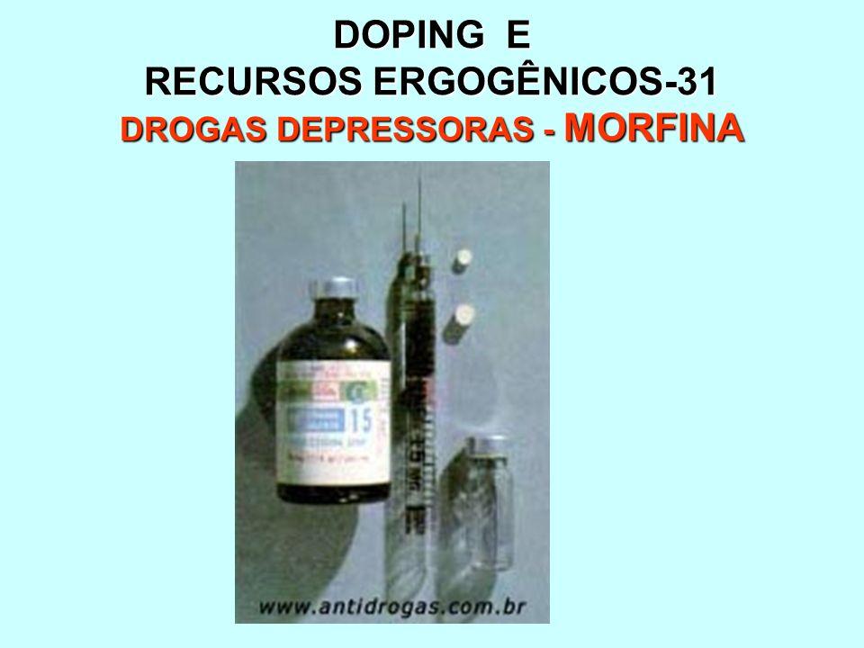 DOPING E RECURSOS ERGOGÊNICOS-31 DROGAS DEPRESSORAS - MORFINA