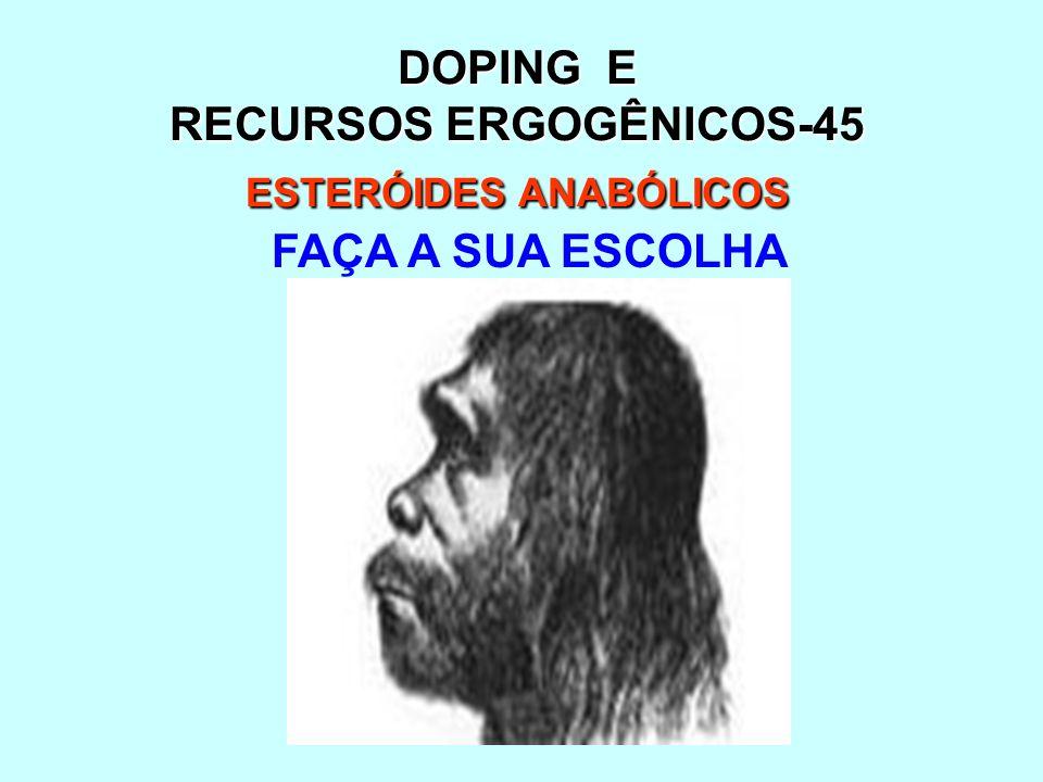 DOPING E RECURSOS ERGOGÊNICOS-45 ESTERÓIDES ANABÓLICOS FAÇA A SUA ESCOLHA