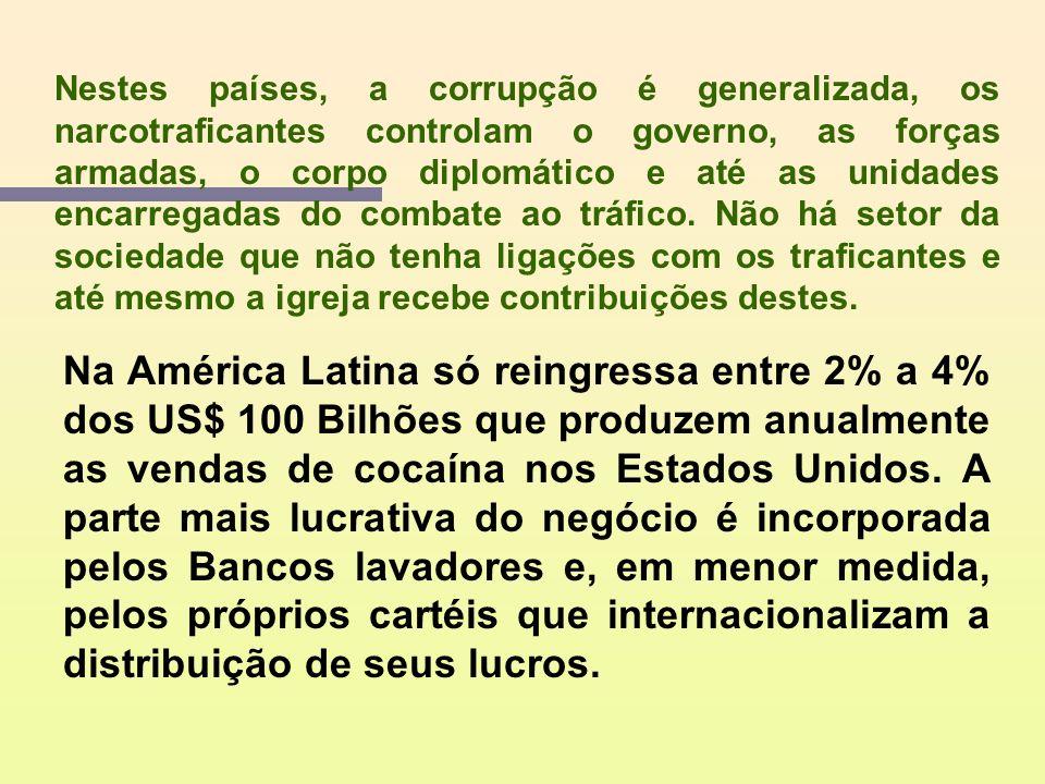 O tráfico de drogas foi sempre um negócio capitalista, por ser organizado como uma empresa, estimulada pelo lucro. Atualmente, o narcotráfico é um dos