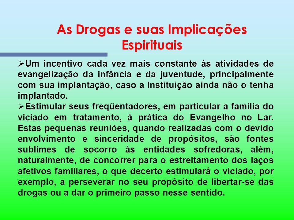 As Drogas e suas Implicações Espirituais Contribuição do Centro Espírita no trabalho antidroga desenvolvido pelos Benfeitores Espirituais As Casas Esp
