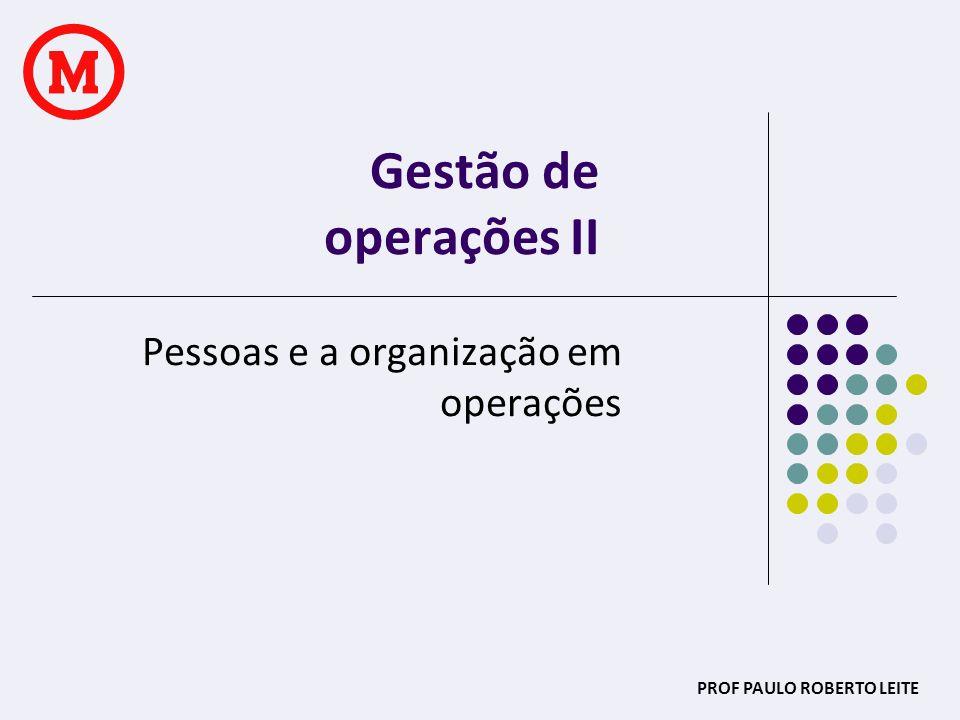 PROF PAULO ROBERTO LEITE PROJETO DO TRABALHO Qual a tarefa em cada fase da operação.