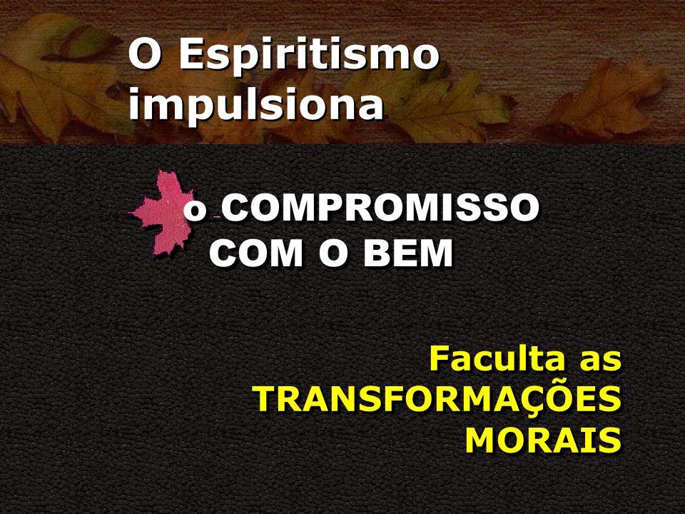 O Espiritismo impulsiona o PROPÓSITO DE VIVER Demonstra a necessidade da BOA UTILIZAÇÃO DO TEMPO