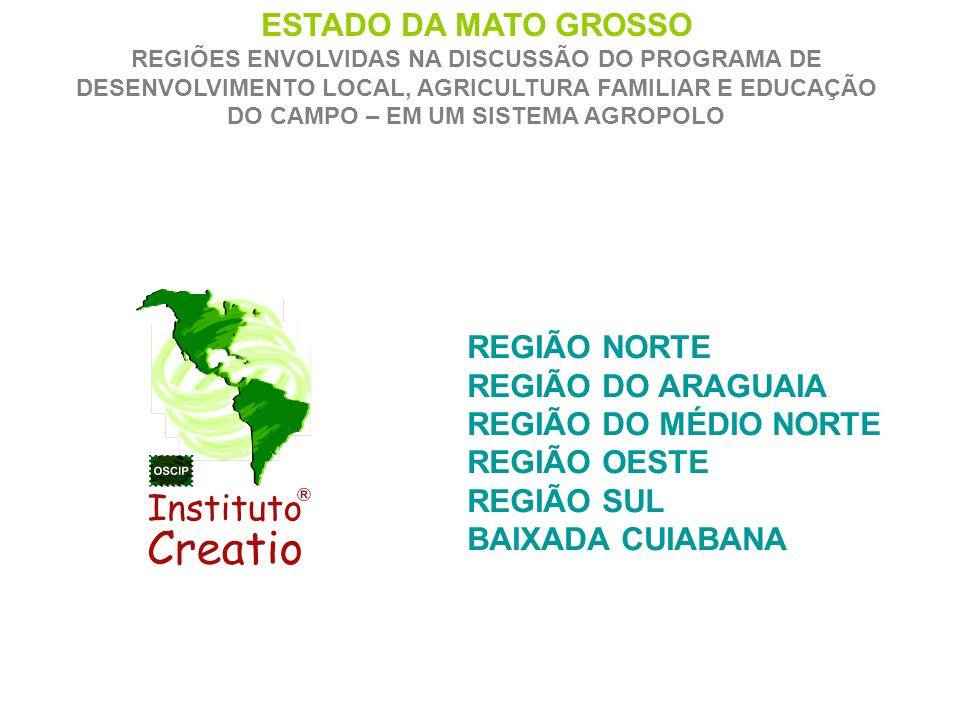 Metodologia Agropolo para MT Proposta de 6 Pólos Rurais; Araguaia, Médio Norte, Oeste, Sul e Norte (Amazônia Legal) Com estas sugestões vamos montar uma apresentação de como esta sendo pensada a metodologia e o processo de produção, mercado e comercialização para cada Agropolo.