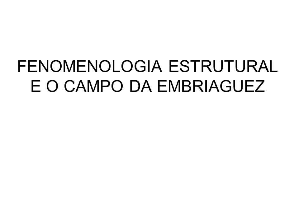 AS VARIANTES FENOMÊNICAS BÁSICAS - OBSERVADOR I.