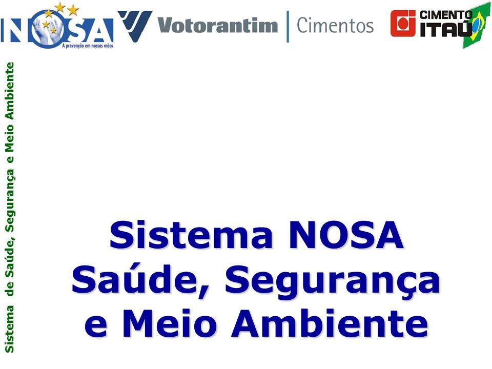 Sistema de Saúde, Segurança e Meio Ambiente Sistema NOSA Saúde, Segurança e Meio Ambiente Sistema de Saúde, Segurança e Meio Ambiente