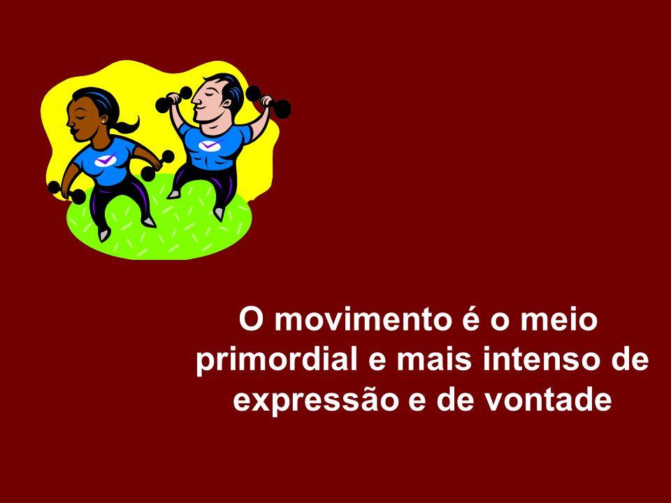 O movimento é o meio primordial e mais intenso de expressão e de vontade