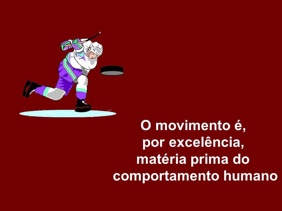 O movimento é, por excelência, matéria prima do comportamento humano