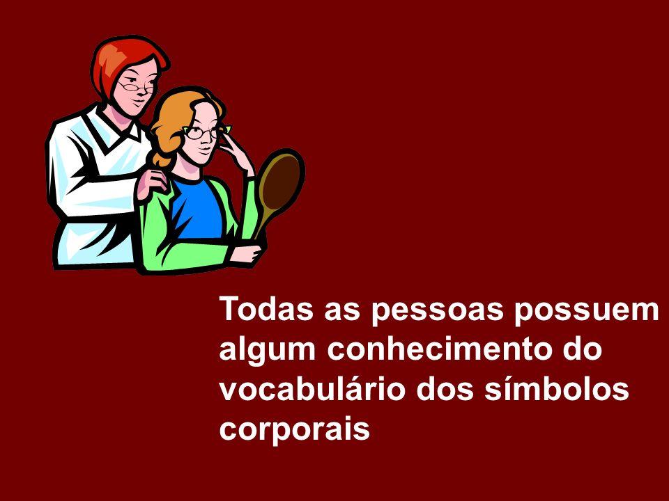 Todas as pessoas possuem algum conhecimento do vocabulário dos símbolos corporais