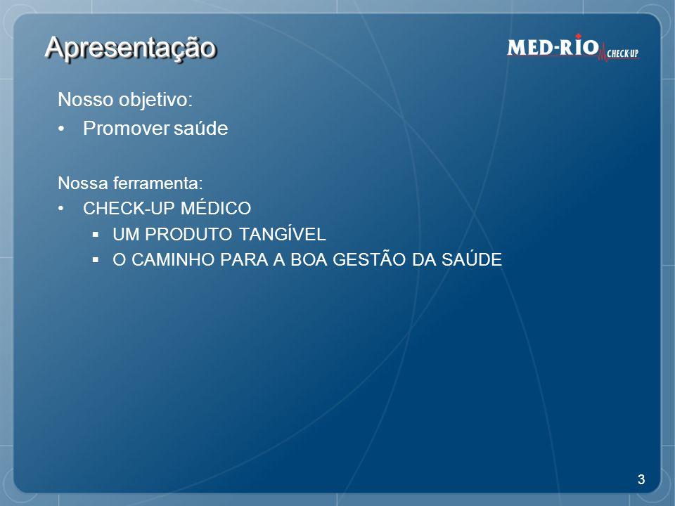 14 A vida além do limite Perfil de Saúde do Executivo Brasileiro 199020002009 Alimentação desequilibrada80%70%60% Altos níveis de estresse, estilo de vida inadequado, competitivo e obsessivo por resultados Homens70%65%70% Mulheres40%50%60% Vida sedentária Homens65%55%50% Mulheres70%60%55% Pacientes com peso acima do ideal60%50%45% Uso regular de bebida alcoólica Homens50% Mulheres25%50% Tabagismo Homens35%25%15% Mulheres45%40%35% Insônia26%21%25% >>