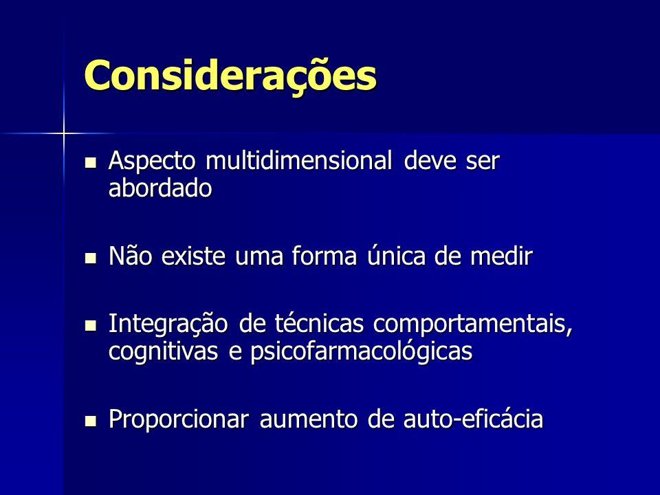 Considerações Aspecto multidimensional deve ser abordado Aspecto multidimensional deve ser abordado Não existe uma forma única de medir Não existe uma